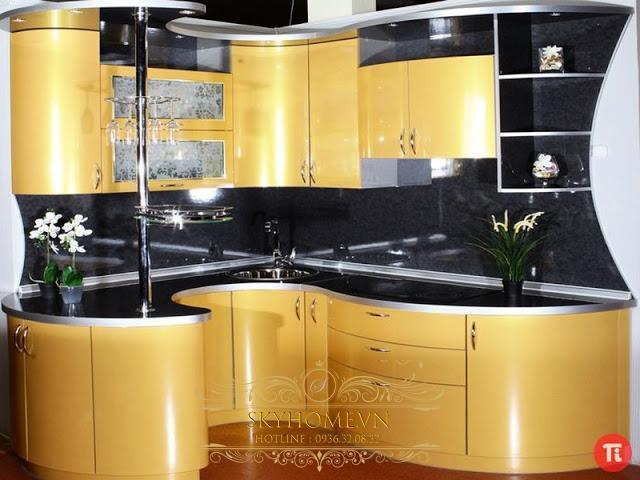 Tủ bếp acrylic đẹp - Mẫu số 2