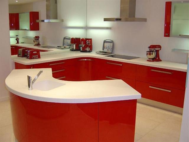 Tủ bếp acrylic đẹp - Mẫu số 3