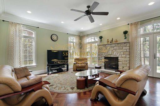 Sofa gỗ cho phòng khách hiện đại