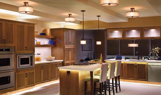 thiết kế ánh sáng cho nhà bếp đẹp