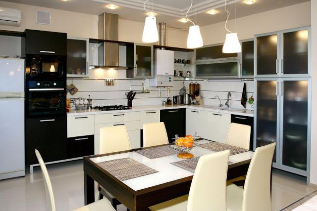 thiết kế ánh sáng nhà bếp đẹp