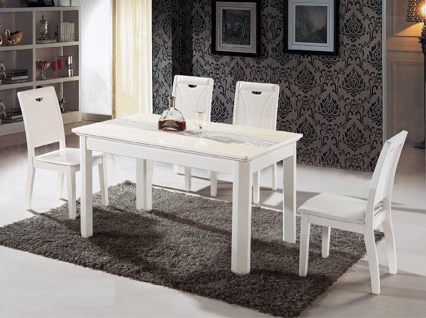 bàn ăn trắng
