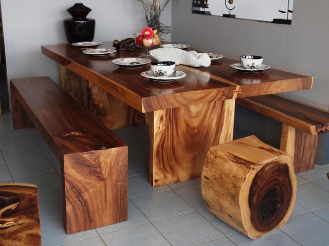 thiết kế bàn ghế gỗ tại skyhome