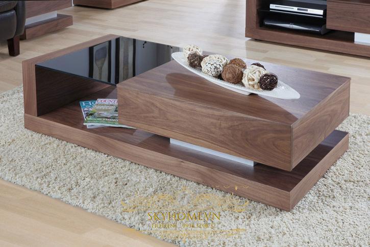 bàn trà gỗ cho phòng khách sang trọng