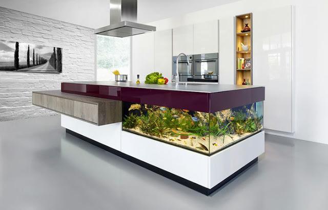 bể cá trong nhà bếp - 2