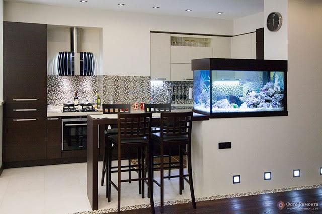 bể cá trong nhà bếp - 3