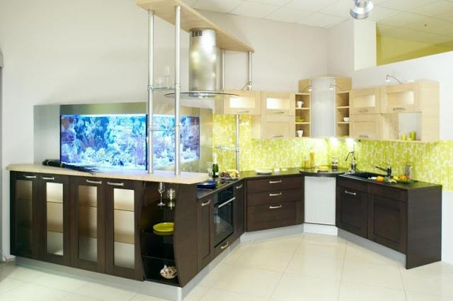 bể cá trong nhà bếp - 4