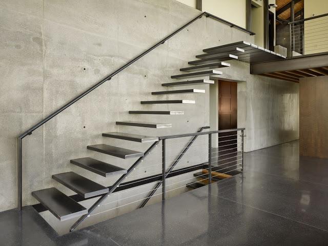 thiết kế cầu thang mở- mẫu số 2
