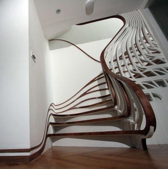 cầu thang nghệ thuật - mẫu số 3