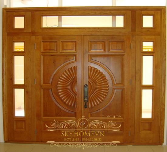 cửa gỗ 4 cánh đẹp