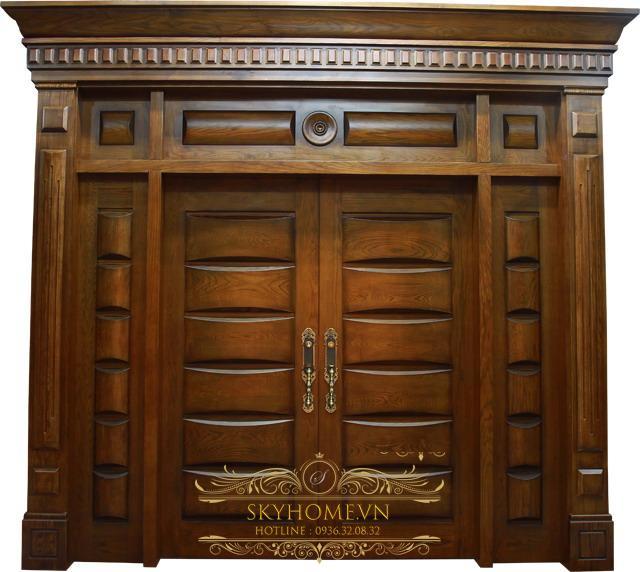 cửa gỗ tự nhiên cho biệt thự đẹp