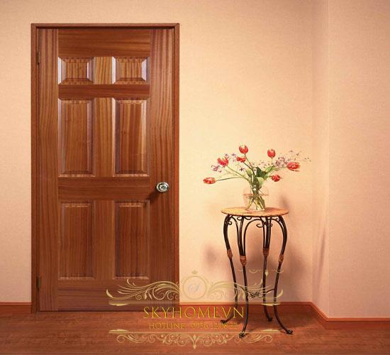 cửa gỗ cánh đơn đẹp