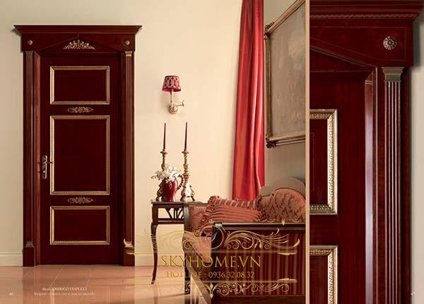 cửa gỗ gõ đỏ - mẫu 1