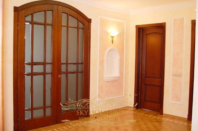 cửa gỗ gõ đỏ - mẫu 7