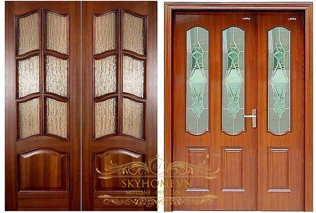 cửa gỗ lim lào -mẫu 1