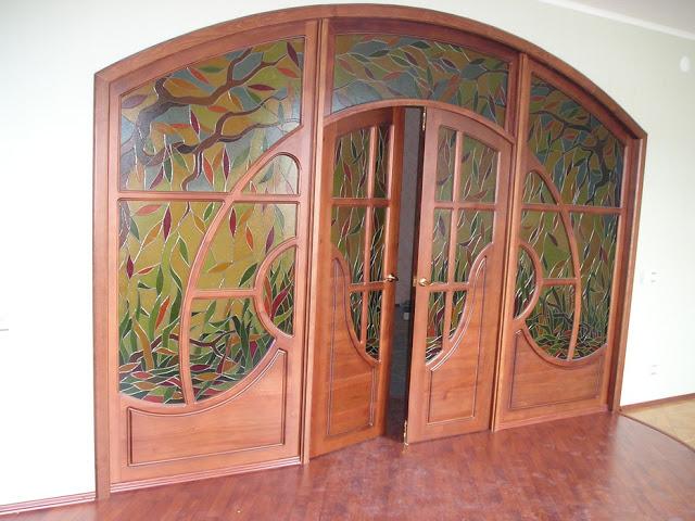 cửa gỗ sồi- mẫu 2