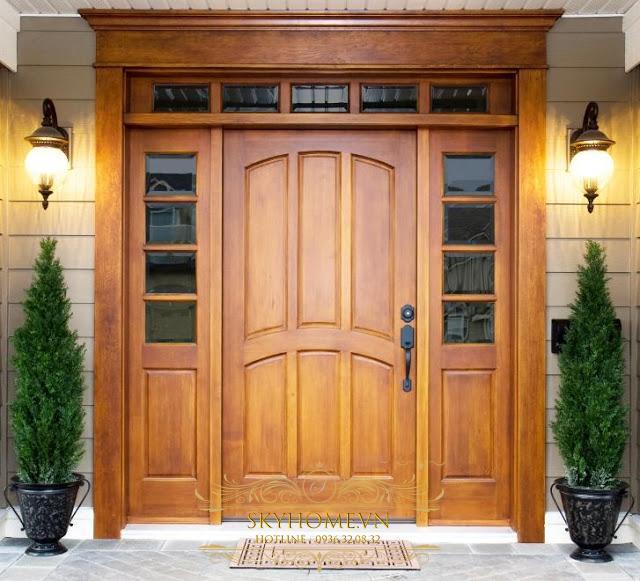 cửa gỗ sồi- mẫu 6