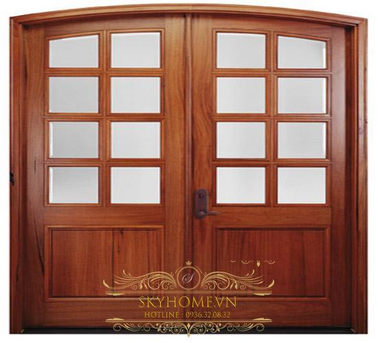 cửa gỗ tự nhiên 4 cánh đẹp