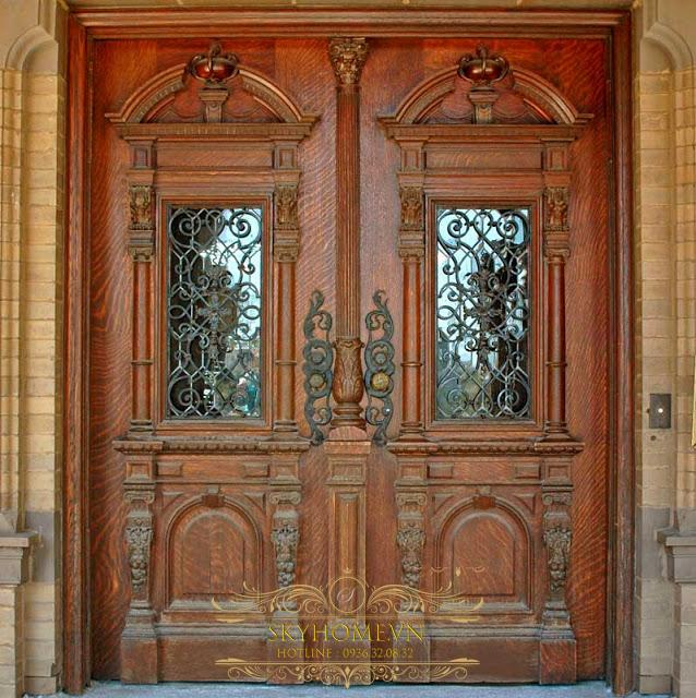 cửa gỗ bản lề thủy lực