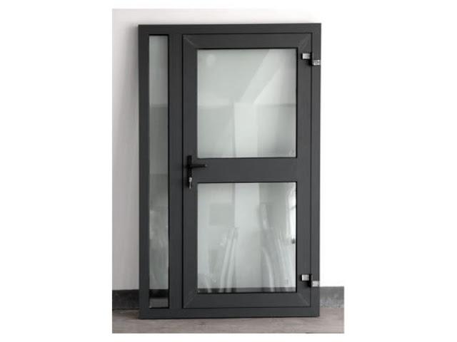 mẫu cửa nhôm kính 1 cánh thông phòng