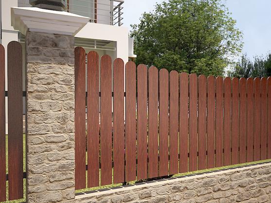 hàng rào gỗ mẫu 1
