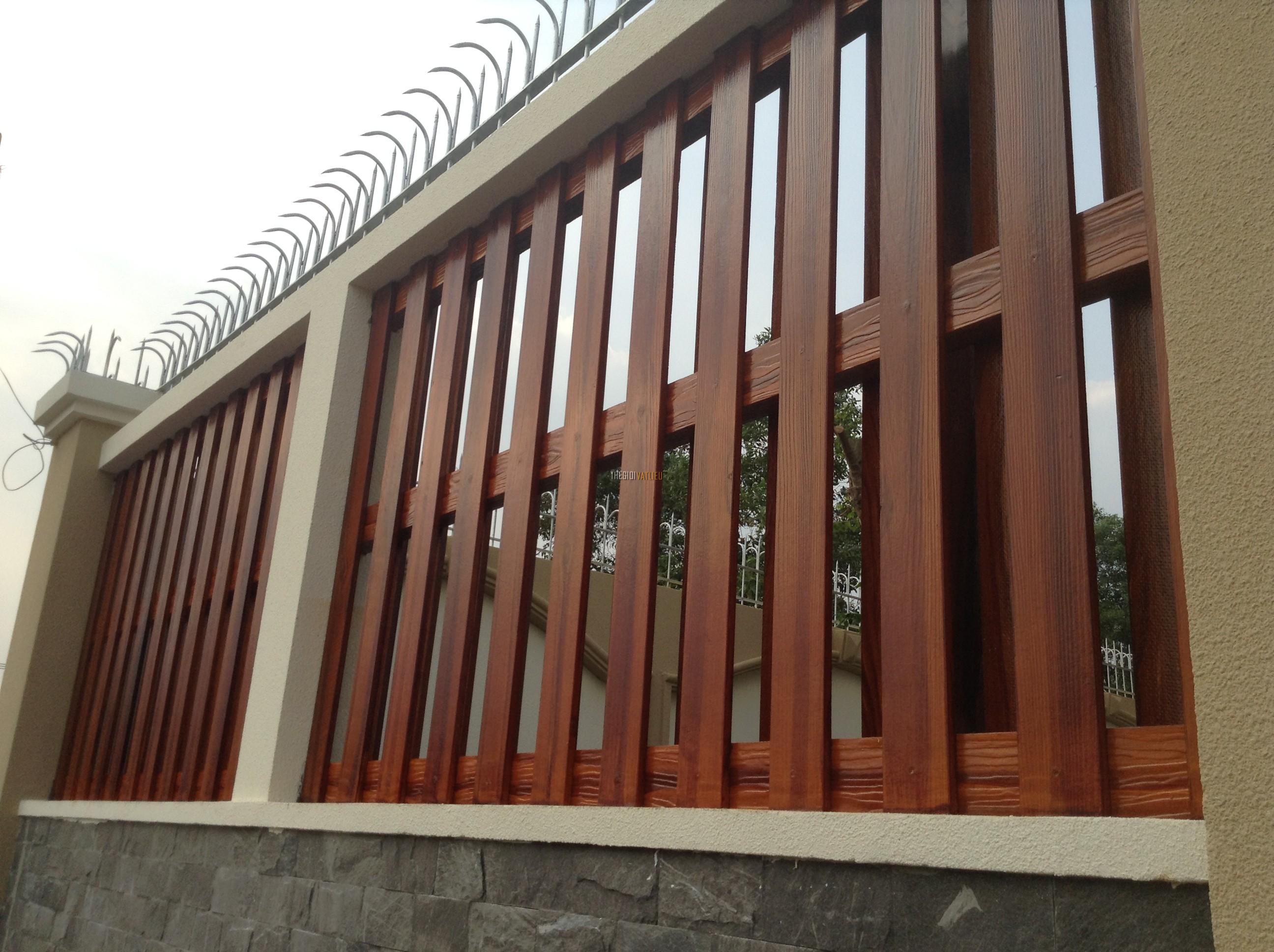 hàng rào gỗ mẫu số 4