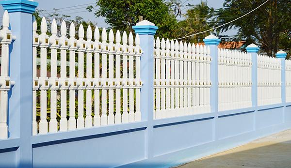 sơn màu hàng rào