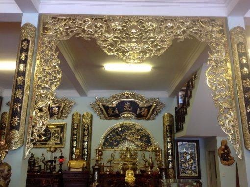 hoành phi câu đối nhà thờ họ hoanh phi cau doi bang dong vang dep