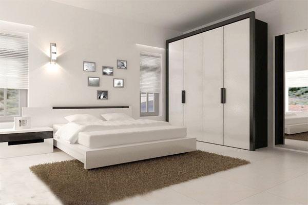 màu trắng cho phòng ngủ yên tĩnh