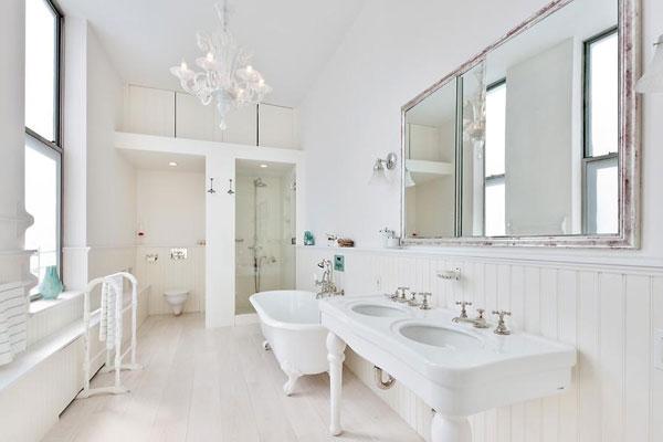 phòng tắm gam màu trắng