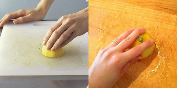 Làm sạch bếp với muối và chanh