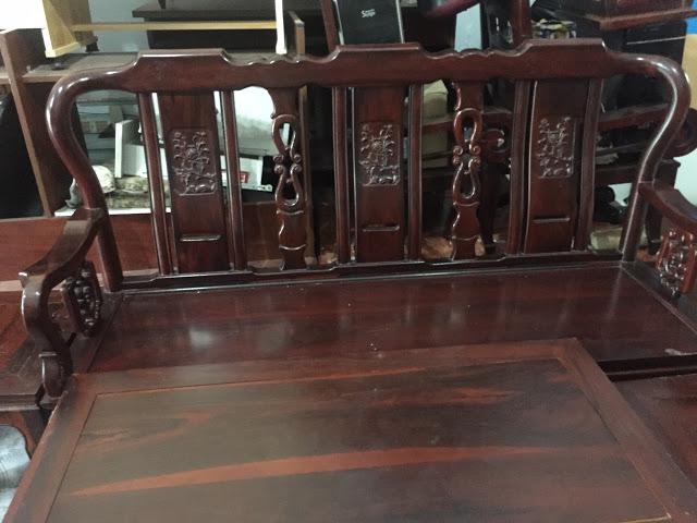 bàn ghế gỗ muồng đen (skyhome.vn)