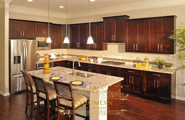 Tủ bếp gỗ cà chít