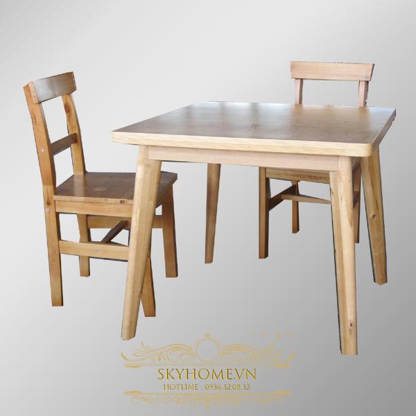 bàn ghế ăn gỗ dương