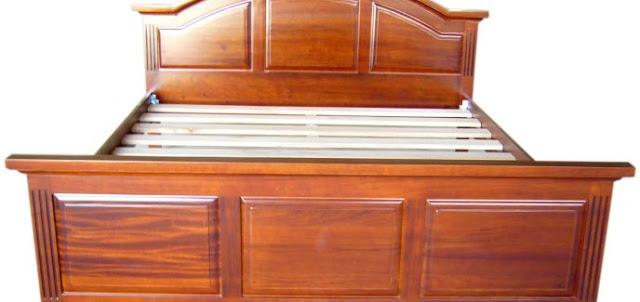 Giường gỗ gụ đẹp và chắc chắn(skyhome.vn)