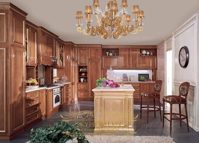 Tủ bếp gỗ - Mẫu số 1