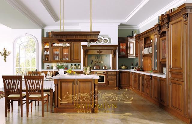 Tủ bếp gỗ - Mẫu số 3