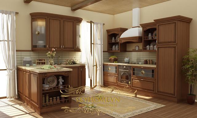 Tủ bếp gỗ - Mẫu số 5