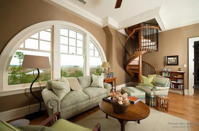 Phòng khách có cầu thang - mẫu 2