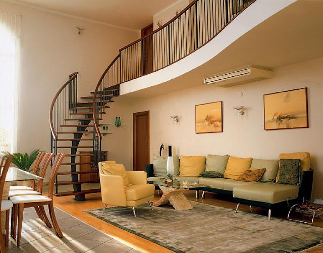 Phòng khách có cầu thang - mẫu 4
