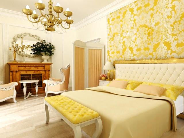 Phòng ngủ ấm áp sắc vàng- Mẫu số 3