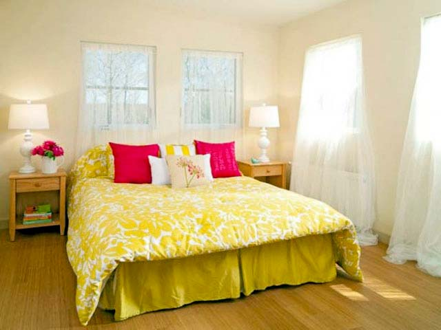 Phòng ngủ ấm áp sắc vàng- Mẫu số 4