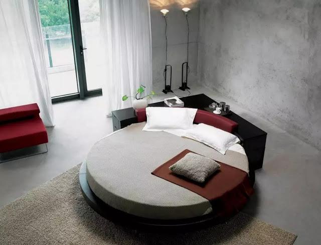 Phòng ngủ hiện đại với thiết kế hình tròn - Mẫu số 9