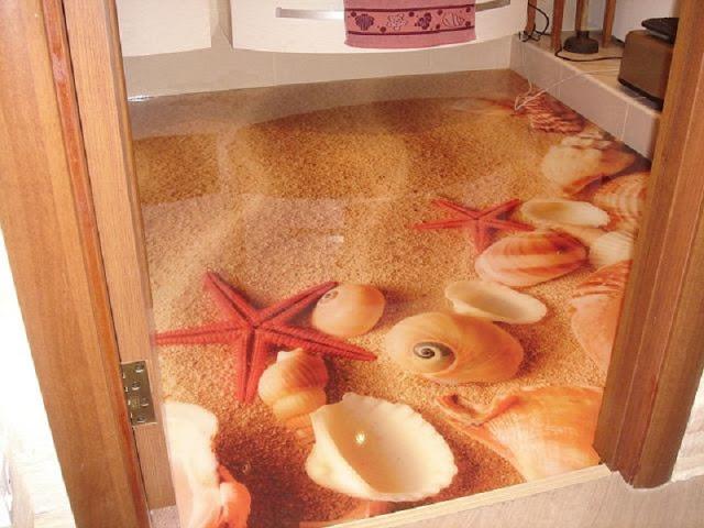 Phòng tắm sàn 3D - Mẫu số 10