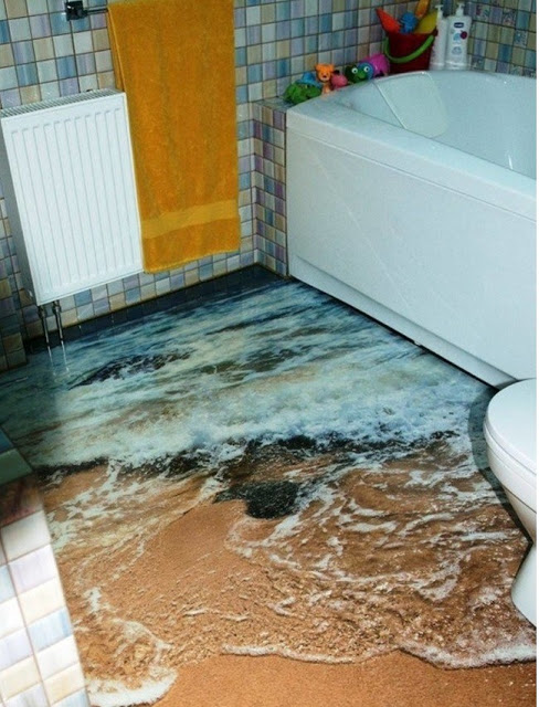 Phòng tắm sàn 3D - Mẫu số 3