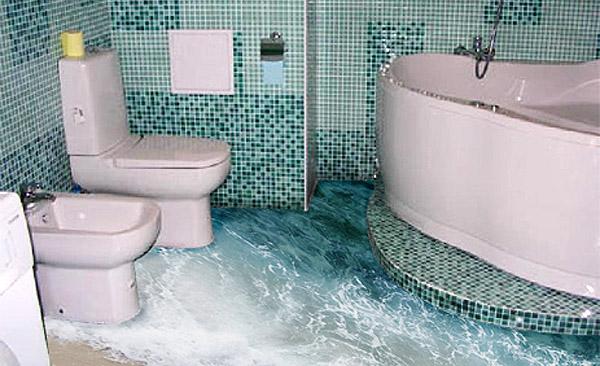 Phòng tắm sàn 3D - Mẫu số 4
