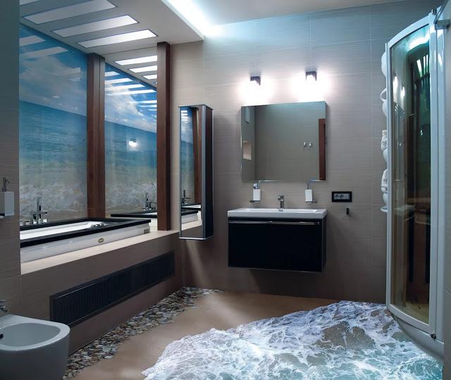 Phòng tắm sàn 3D - Mẫu số 5