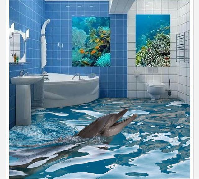 Phòng tắm sàn 3D - Mẫu số 6