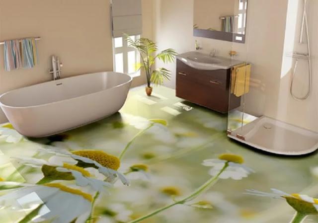 Phòng tắm sàn 3D - Mẫu số 7