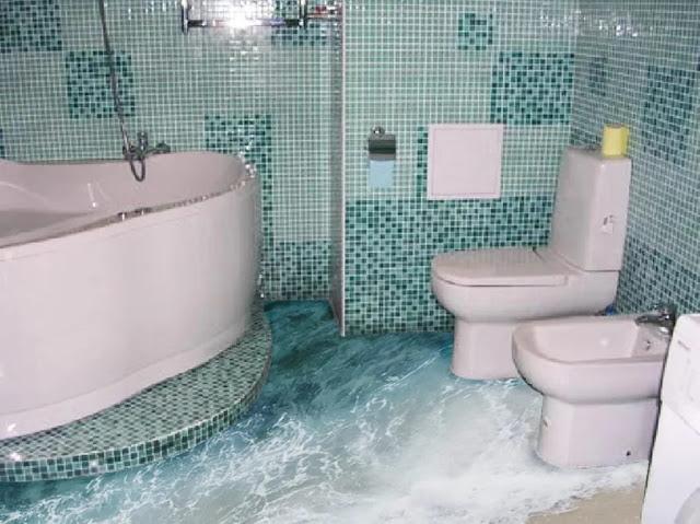 Phòng tắm sàn 3D - Mẫu số 8